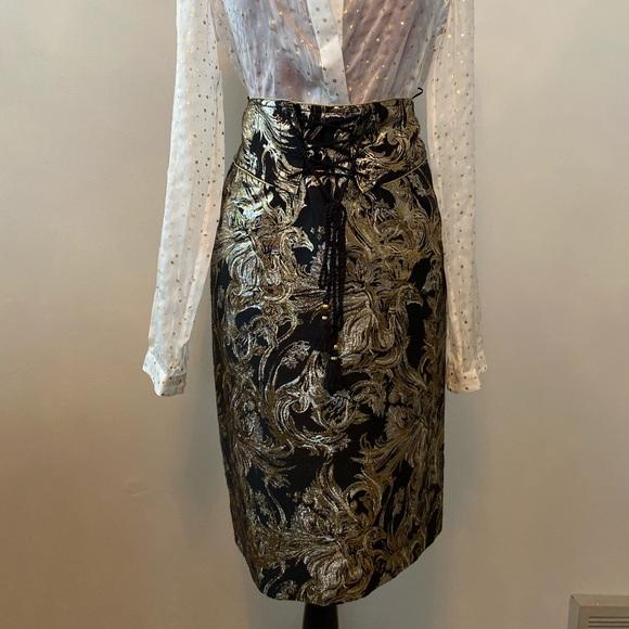 Roberto Cavalli Gonna woven skirt metallic brocade